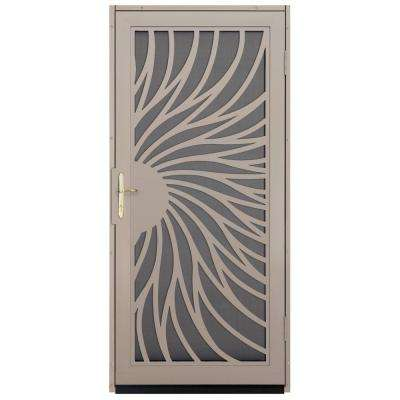 Solstice Outswing Security Door with Insect Screen and Polished Brass Hardware