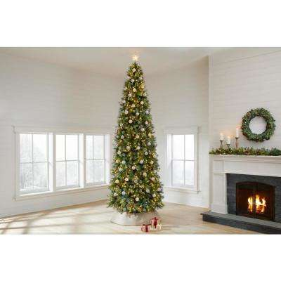 12 ft Alexander Pine Pre-Lit LED Artificial Christmas Tree with 1100 SureBright Warm White Lights