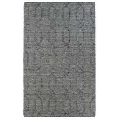 Imprints Modern Grey 3 ft. 6 in. x 5 ft. 6 in. Area Rug