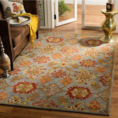 Heritage Charcoal/Multi 6 ft. x 6 ft. Square Area Rug