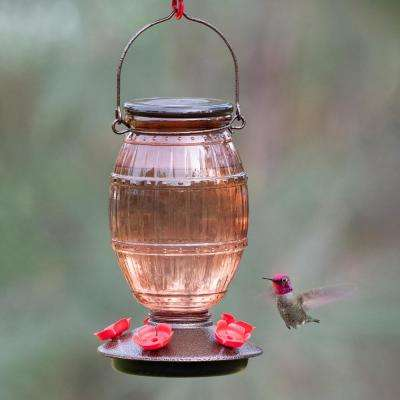 Prohibition Top-Fill Decorative Glass Hummingbird Feeder - 36 oz. Capacity