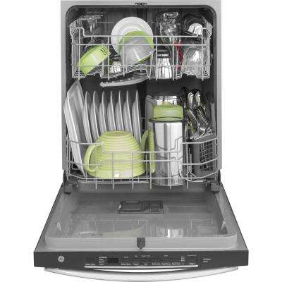 24 in. Top Control Built-In Tall Tub Dishwasher in Stainless Steel with Steam Prewash, 50 dBA