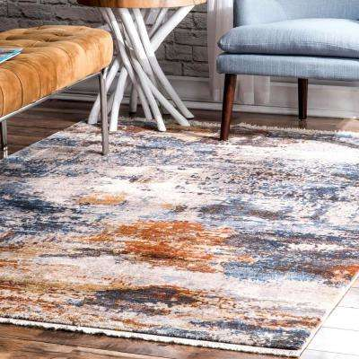 Contemporary Ambria Abstract Multi 8 ft. x 10 ft. Area Rug