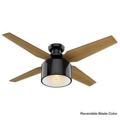 Cranbrook 52 in. LED Low Profile Indoor Gloss Black Ceiling Fan