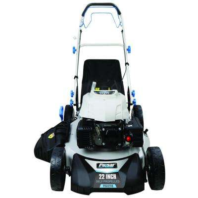 3-in-1 Self-Propelled 22 in. 173cc Gas Recoil Start Walk Behind Lawn Mower