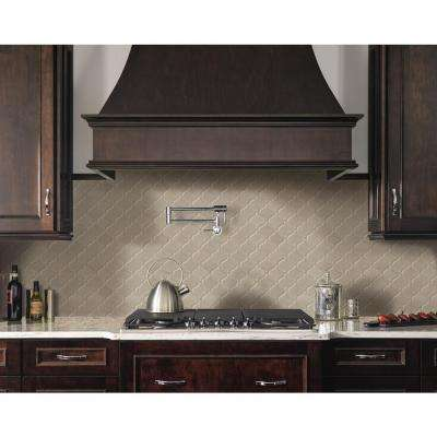 Fog Arabesque 9.84 in. x 10.63 in. x 6 mm Glazed Ceramic Mesh-Mounted Mosaic Tile (10.95 sq. ft. / case)