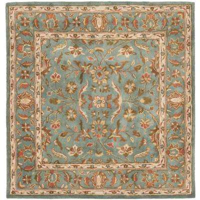 Heritage Blue 8 ft. x 8 ft. Square Area Rug