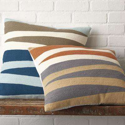 Helix Embroidered 20 in. x 20 in. Pillow Cover