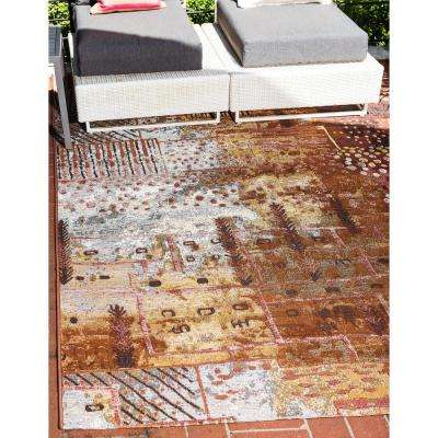 Outdoor Pine Multi 5' 3 x 8' 0 Area Rug
