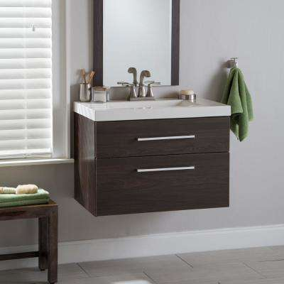 Larissa 31 in. W x 19 in. D Bathroom Vanity in Elm Ember with Cultured Marble Vanity Top in White with White Sink