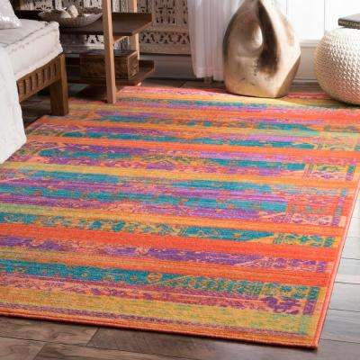 Vintage Shafer Yellow 8 ft. x 10 ft. Area Rug