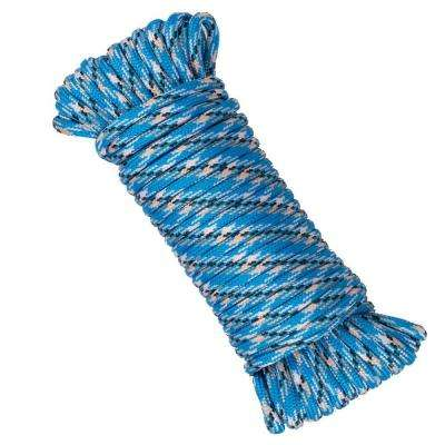 1/8 in. x 50 ft. Polyester and Nylon Strand Rope - Blue
