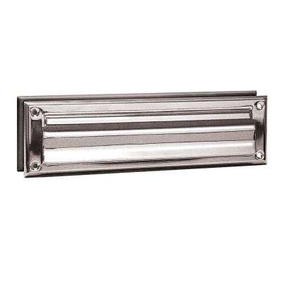 4000 Series 13 in. W x 3.5 in. H x 1.75 in. D Standard Magazine Size Mail Slot in Chrome Finish