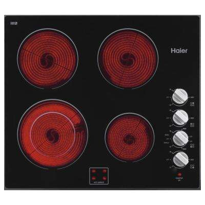 24 in. Electric Cooktop in Black