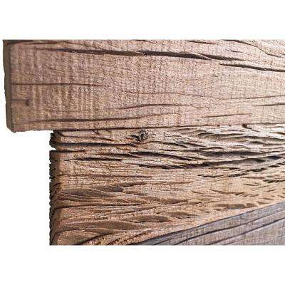3D Holey Wood 100, 5/16 in. x 28 in. x 12 in. Brown Reclaimed Wood Decorative Wall Panel (10-Pack)