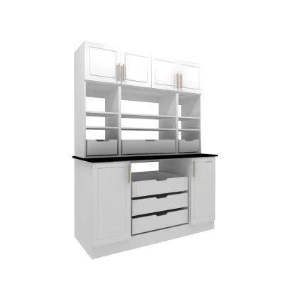 Madison 60 in. W x 80.25 in. H White 8 Cube Organizer