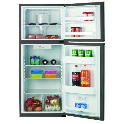 11.5 cu. ft. Frost Free Top Freezer Refrigerator in Black with Stainless Steel Door