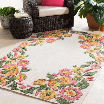 Mayan Polo Ivory 8 ft. x 10 ft. Indoor/Outdoor Area Rug