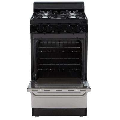 20 in. 2.42 cu. ft. Freestanding Gas Range in Stainless Steel