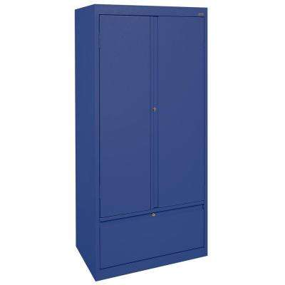 Systems Series 30 in. W x 64 in. H x 18 in. D Storage Cabinet with File Drawer in Blue