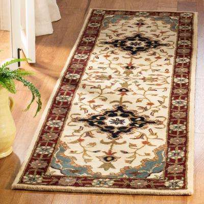Heritage Ivory/Red 2 ft. x 10 ft. Runner Rug