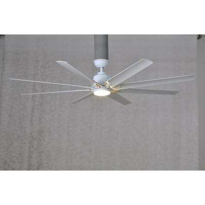 Kensgrove 72 in. LED Indoor/Outdoor White Ceiling Fan