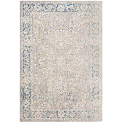 Patina Taupe/Blue 5 ft. 1 in. x 7 ft. 6 in. Area Rug