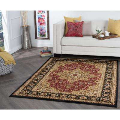Elegance Red 8 ft. x 10 ft. Traditional Area Rug