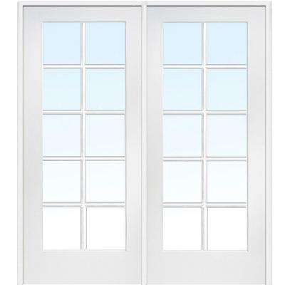 Classic Clear Glass 10 Lite Composite Double Interior