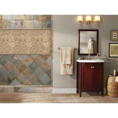 Noche/Chiaro 12 in. x 12 in. x 10mm Travertine Mesh-Mounted Mosaic Tile (10 sq. ft. / case)
