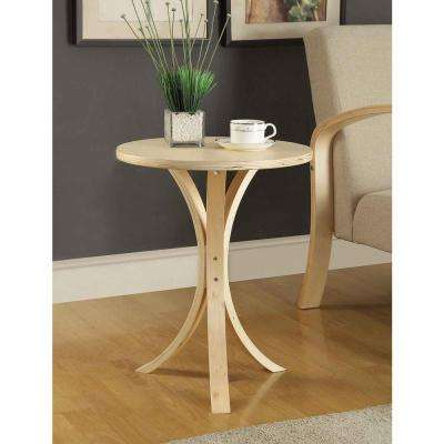 Danish Round Side Table in Natural