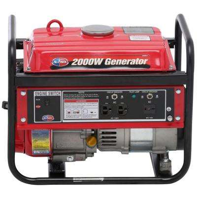 1400-Watt Gasoline Powered Portable Generator with Open Frame
