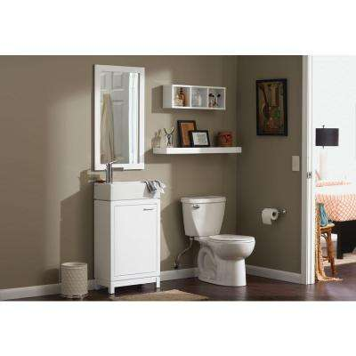 Kole 19.75 in. W x 10.00 in. D x 34.75 in. H Vanity in White with Vanity Top in with White Fireclay Sink and Mirror