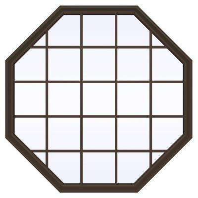 V-2500 Series Fixed Octagon Vinyl Window with Grids