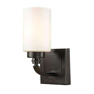 Derby 1-Light Oil-Rubbed Bronze Bath Light