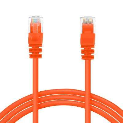 25 ft. Cat5e RJ45 Ethernet LAN Network Patch Cable - Orange (16-Pack)
