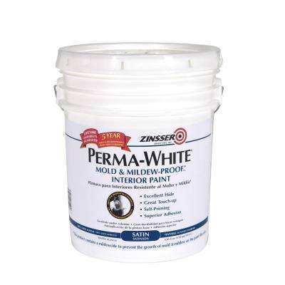 5-gal. Perma-White Mold and Mildew-Proof Satin Interior Paint
