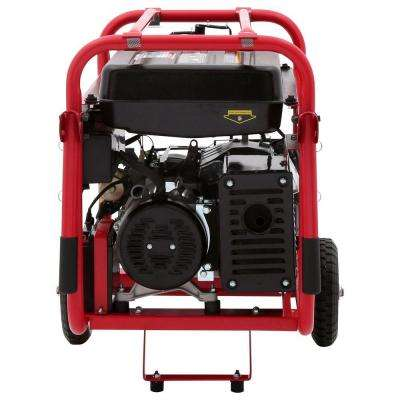 8,000-Watt Gasoline Powered Electric Start Portable Generator with Mobility Cart
