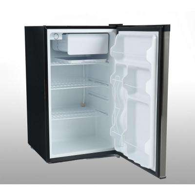 4.4 cu. ft. Mini Refrigerator in Black with Stainless Steel Door