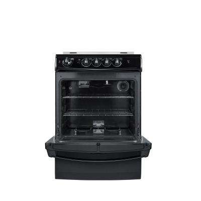 24 in. 3 cu. ft. Slide-In Electric Range in Black