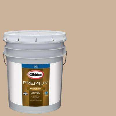 5-gal. #HDGO49D Fortress Stone Satin Latex Exterior Paint