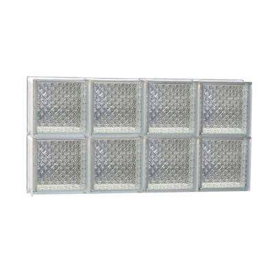 Frameless Diamond Pattern Non-Vented Glass Block Window