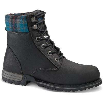 Kenzie Women's Black Steel Toe Work Boots