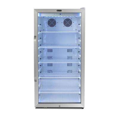 24 in. 8.1 cu.ft. Freestanding Beverage Merchandiser Refrigerator with Superlit Door in White