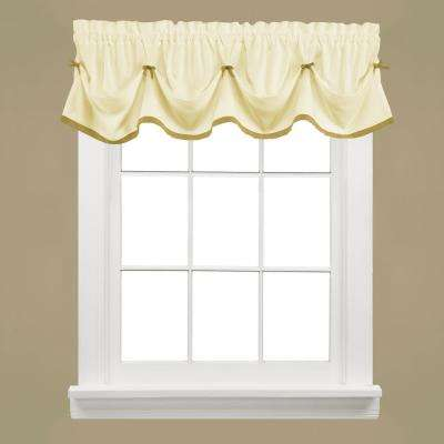 Kate 13 in. L Polyester Valance in Natural