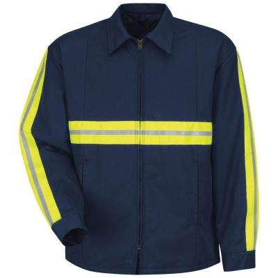 Men's Navy Enhanced Visibility Perma-Lined Panel Jacket