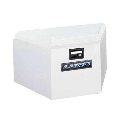 16 in. Steel Trailer Tongue Box, White