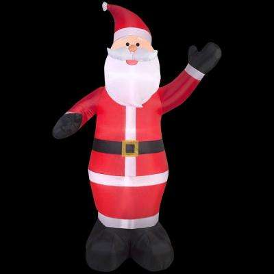 61.42 in. D x 61.42 in. W x 107.48 in. H Inflatable Santa