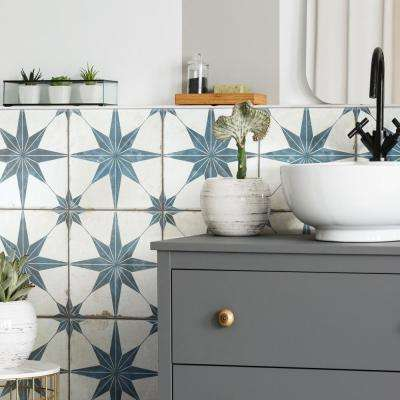 "Kings Star Blue 17-5/8""x17-5/8"" Ceramic F/W Tile"
