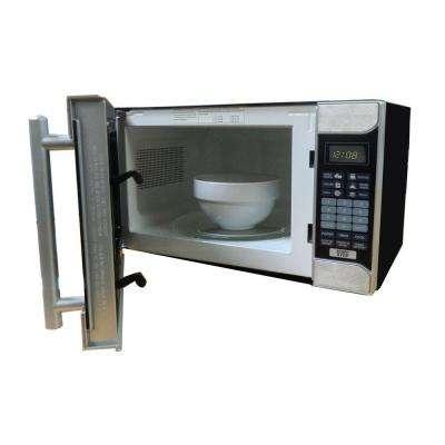 0.7 cu. ft. 700-Watt Countertop Microwave in Black/Stainless Steel